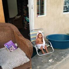Sylvia bathed
