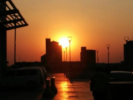 Sunset over Lusaka