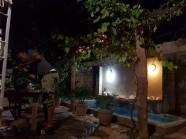 Pool in the night
